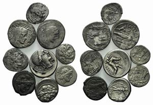 Lot of 9 AR Roman Republican coins, to be ...