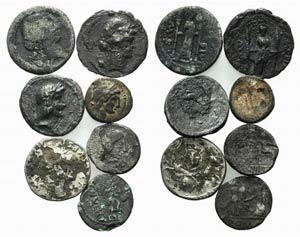Lot of 7 Plated AR Roman Republican coins, ...