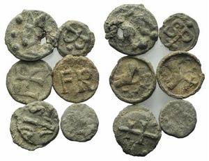 Lot of 6 Roman Republican Pb Seals. Lot sold ...