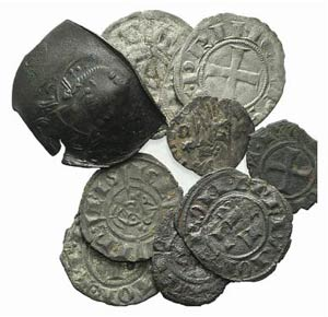 Mixed lot of 11 coins, including Roman ...