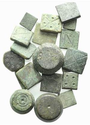 Lot of 19 Æ Byzantine-Medieval Weights. Lot ...