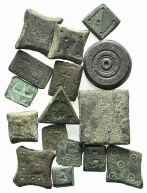 Lot of 16 Æ Byzantine-Medieval Weights and ...