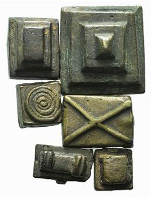 Lot of 6 Æ Weights, to be catalog. Lot sold ...