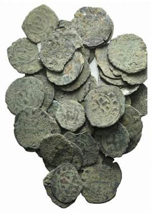Lot of 50 BI Medieval coins, to be catalog. ...