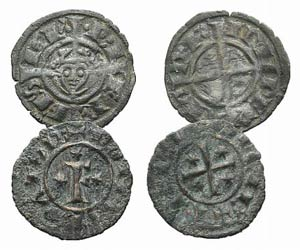 Italy, Federico II (1198-1250). Lot of 2 BI ...