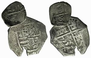 Spain, 16th century, 2 AR coins to be ...
