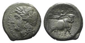 Campania, Neapolis, c. 270-250 BC. Æ (20mm, ...