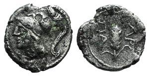 Northern Apulia, Arpi, c. 215-212 BC. AR ...