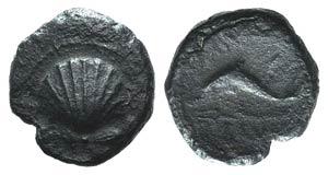 Southern Apulia, Brundisium, c. 215 BC. Æ ...