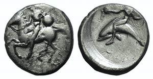 Southern Apulia, Tarentum, c. 400-390 BC. AR ...