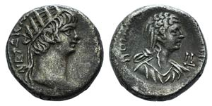 Nero and Poppaea (54-68). Egypt, Alexandria. ...