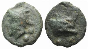 Anonymous, Rome, c. 225-217 BC. Cast Æ ...