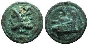 Anonymous, Rome, c. 225-217 BC. Cast Æ As ...