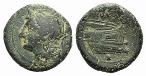 Anonymous, Rome, c. 217-215 BC. Æ Uncia ...