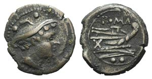 Anonymous, Rome, after 211 BC. Æ Sextans ...