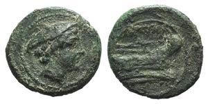 Anonymous, Rome, after 211 BC. Æ Semuncia ...