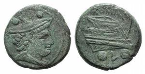 Anonymous, Luceria, 211-208 BC. Æ Sextans ...