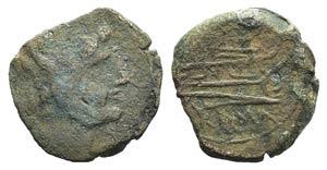 L series, Luceria, 211-208 BC. Æ reduced As ...