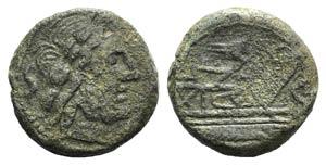Rostrum tridens series, c. 206-195 BC. Æ ...