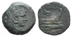 Rostrum tridens series, Rome, 206-195 BC. Æ ...