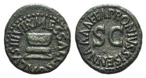 Augustus (27 BC-14 AD). Æ Quadrans (17mm, ...