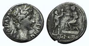 Augustus (27 BC-AD 14). Fourrèe Denarius ...