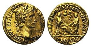 Augustus (27 BC-AD 14). AV Aureus (18mm, ...