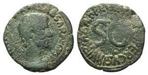 Augustus (27 BC-AD 14). Æ As (27mm, 9.34g, ...