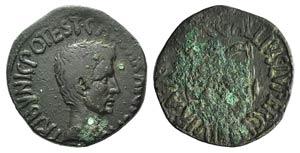 Augustus (27 BC-AD 14). Æ As (27mm, 11.43g, ...