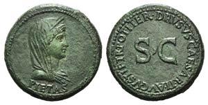 Julia Augusta (Livia, Augusta, 14-29). Æ ...