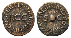 Gaius(Caligula, 37-41). Æ Quadrans (17mm, ...