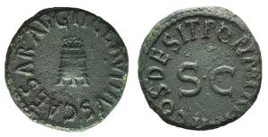 Claudius (41-54). Æ Quadrans (16mm, 3.20g, ...
