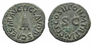 Claudius (41-54). Æ Quadrans (19mm, 3.12g, ...