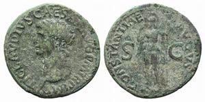 Claudius (41-54). Æ As (30mm, 9.87g, 6h). ...