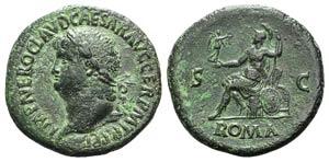 Nero (54-68). Æ Sestertius (36mm, 23.27g, ...