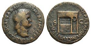 Nero (54-68). Æ As (29mm, 9.81g, 6h). Rome, ...