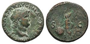 Nero (54-68). Æ As (28mm, 11.02g, 6h). ...