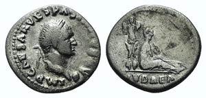 Vespasian (69-79). AR Denarius (19mm, 3.28g, ...