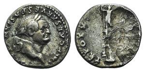 Vespasian (69-79). AR Denarius (17mm, 2.89g, ...