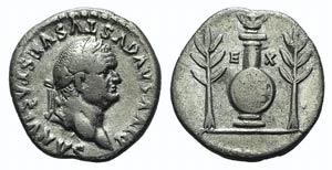 Divus Vespasian (died AD 79). AR Denarius ...
