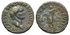 Vespasian (69-79). Æ As (29mm, 13.18g, 6h). ...