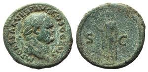 Vespasian (69-79). Æ As (28mm, 11.87g, 6h). ...