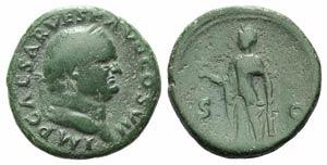 Vespasian (69-79). Æ As (26mm, 10.70g, 6h). ...