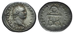 Titus (79-81). AR Denarius (18mm, 2.63g, ...