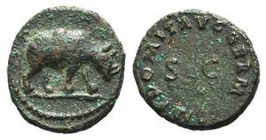 Domitian (81-96). Æ Quadrans (14mm, 1.99g, ...