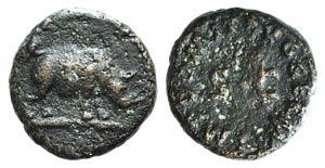 Domitian (81-96). Æ Quadrans (13mm, 2.50g, ...