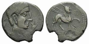 Iberia, Kastilo, late 2nd century BC. Æ As ...