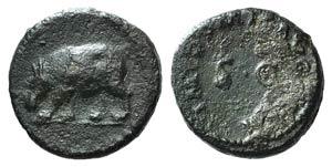 Domitian (81-96). Æ Quadrans (14mm, 2.26g, ...