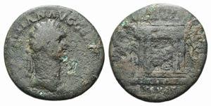 Domitian (81-96). Æ As (26mm, 8.86g, 6h). ...
