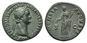 Domitian (81-96). Æ As (29mm, 9.16g, 6h). ...